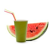 Paper cup and watermelon Stock Photography