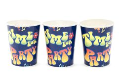 Paper cup on white Stock Image