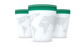 Paper Cup World Map Royalty Free Stock Images