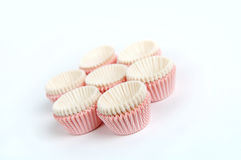 Paper cupcake cups Stock Photography