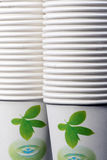 Paper cups. A lot of special-purpose paper cups Royalty Free Stock Images
