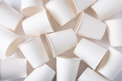 Paper cups background Royalty Free Stock Photo