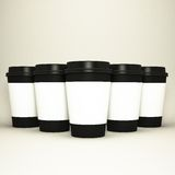 Paper cups with caps. High resolution Royalty Free Stock Images