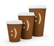 Paper cups of coffee  Royalty Free Stock Image