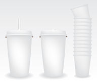 Paper cups illustration Stock Photo