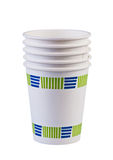 Paper cups isolated. Stock Image