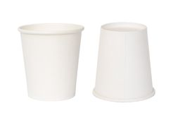 Paper cups Stock Photo