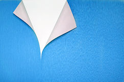 Paper with curled corner and copyspace Stock Photo