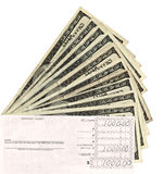 Paper currency and deposit slip Royalty Free Stock Image