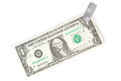 Paper currency and tape Royalty Free Stock Photo