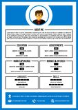 A4 curriculum vitae / resume design template vector. vector illustration