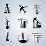 Paper Cut. Industry and Energy icons set. Vector illustration Royalty Free Stock Photography
