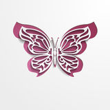 Paper cut abstract lacy butterfly. Vector EPS10 Stock Photography