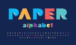 Paper cut font royalty free illustration