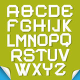 Paper Cut Alphabet Set Royalty Free Stock Photos