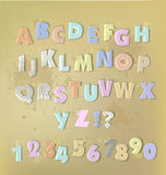 Paper cut alphabet with staplers and glue tape Stock Photography