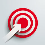 Paper Cut Arrow Target PiAd Stock Photography