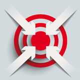 4 Paper Cut Arrows Target PiAd PiAd Royalty Free Stock Photography