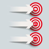 3 Paper Cut Arrows 3 Targets PiAd Stock Photography