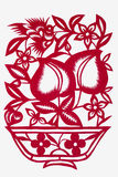 Paper-cut art of a peach Stock Images