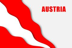 Paper cut background. With Flag of Austria royalty free illustration