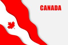 Paper cut background. With Flag of Canada royalty free illustration