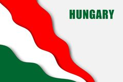 Paper cut background. With Flag of Hungary royalty free illustration