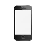 Paper cut of black smartphone is modern mobile for communication Royalty Free Stock Images