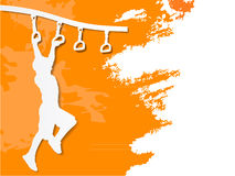 Free Paper Cut Boy On Monkey Bars Royalty Free Stock Images - 69310229
