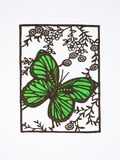 Paper-cut of butterfly Stock Image