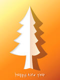 Paper cut christmas tree. + EPS8. Vector file Royalty Free Illustration