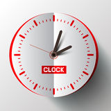 Paper Cut Clock Face Vector. Illustration Royalty Free Stock Photography