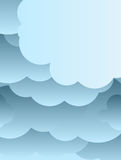 Paper cut clouds background. Or design template Royalty Free Stock Image