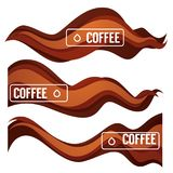 Paper Cut Coffee Flow Vector Design Element For Your Modern Labe Stock Images