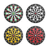 Paper cut of dartboard with target icon is isolated for competit Royalty Free Stock Photos