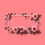 Paper cut decorative flowers. Royalty Free Stock Photography