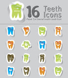 Paper cut dental health teeth icon Royalty Free Stock Images