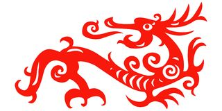 Paper cut dragon 01 Royalty Free Stock Photography