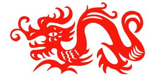 Paper cut dragon Royalty Free Stock Image