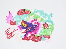 Paper-cut of dragon Stock Image