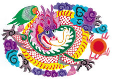 Paper-cut dragon Royalty Free Stock Photography