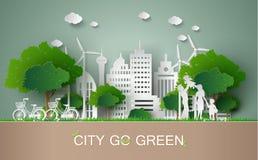 Paper cut of eco concept. Stock Photos