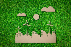 Paper cut of  eco friendly city Royalty Free Stock Image