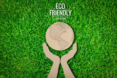Paper cut of  eco friendly earth Stock Photos