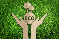 Paper cut of eco Stock Photo
