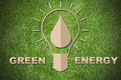 Paper cut of eco on green grass Stock Photography