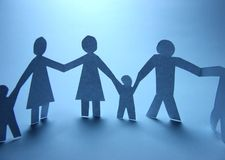 Paper cut family Royalty Free Stock Images