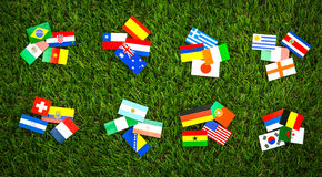 Paper cut of flags for Soccer championship 2014 Royalty Free Stock Photo