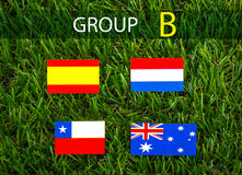 Paper cut of flags for Soccer championship 2014 , group B Royalty Free Stock Photos