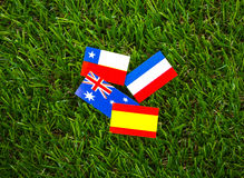 Paper cut of flags for Soccer championship 2014 , group B Royalty Free Stock Images